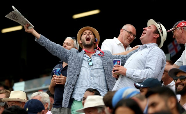 England's fans were in fine voice at Edgbaston