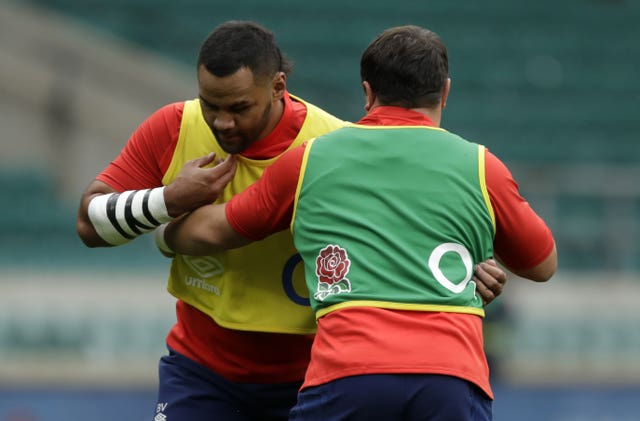 Billy Vunipola, left, has not been ruled out of starting for England in Rome