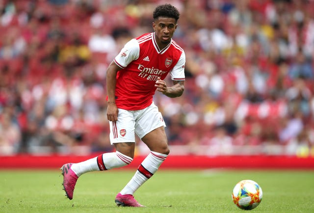 Reiss Nelson, pictured, and Joe Willock have started both Premier League matches this season