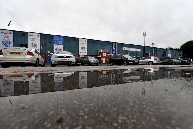 Images from outside Gigg Lane on Wednesday morning