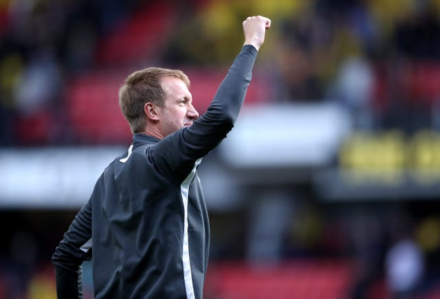 Brighton boss Graham Potter celebrated a 3-0 victory in his first Premier League match in charge at Watford