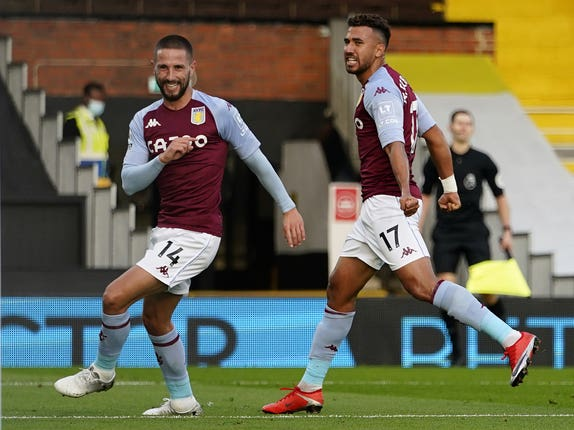 Conor Hourihane, left, celebrates his goal