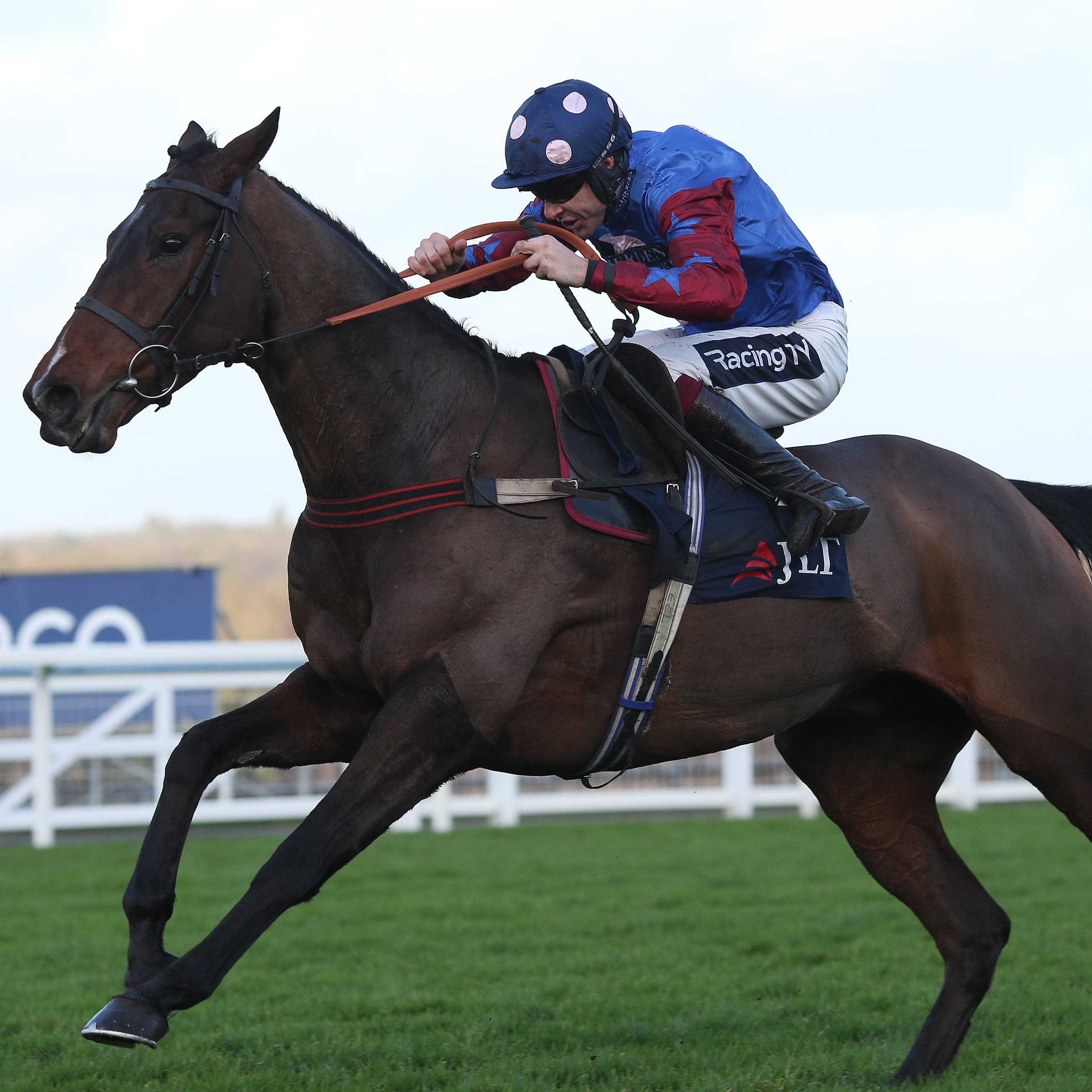 Paisley Park bounds to victory in the JLT Hurdle at Ascot