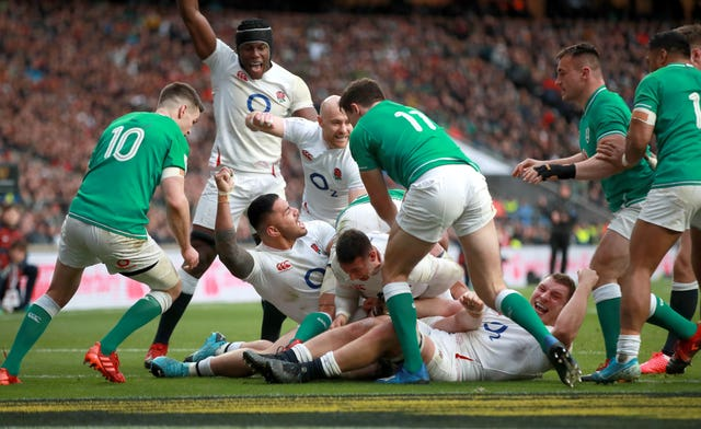 Ireland suffered defeat to England at Twickenham before international rugby was halted by the coronavirus pandemic