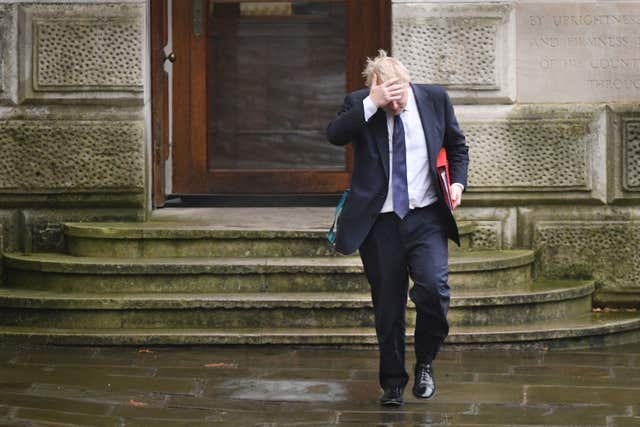 Foreign Secretary Boris Johnson arriving at Tuesday's Cabinet meeting. (Stefan Rousseau/PA)
