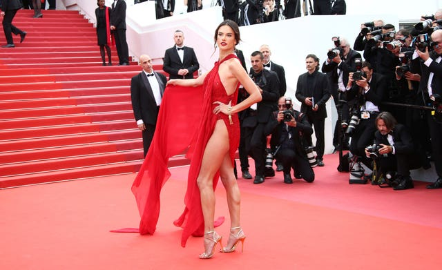 Alessandra Ambrosio  in Cannes 2019 Les Miserables Red Carpet