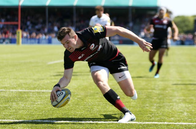 Ben Spencer scores for Saracens against Wasps