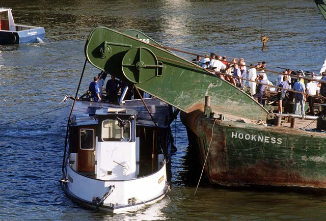 The Marchioness being raised from the river