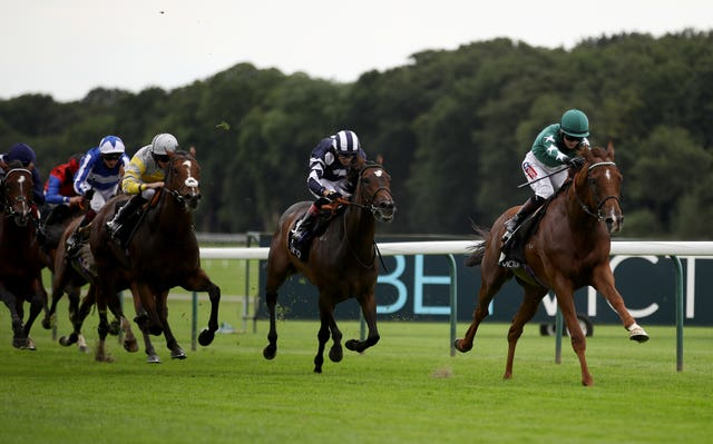 Extra Elusive winning the BetVictor Rose Of Lancaster Stakes at Haydock