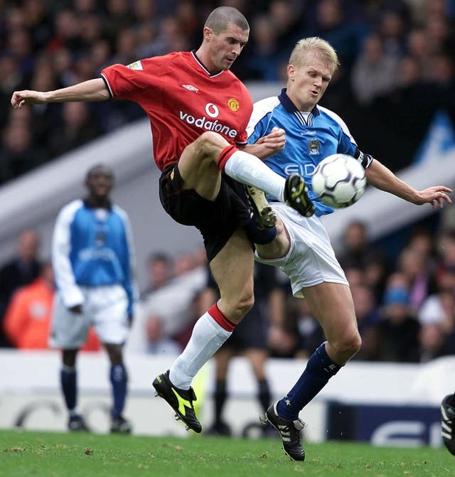 Erling Haaland's father Alf-Inge used to play for United's rivals City