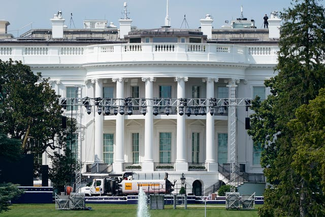 Donald Trump is expected to make his speech from the south lawn of the White House (Patrick Semansky/AP)