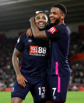 At least Joshua King was able to celebrate Callum Wilson's goal in the win over Southampton