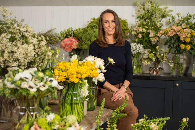 Royal wedding florist Philippa Craddock (Victoria Jones/PA)