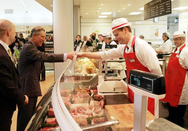 The Prince of Wales visits a Booths supermarket in the Lake District.