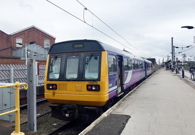 A Northern Pacer train