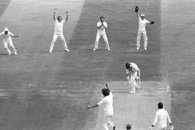 Australia's Geoff Lawson is dismissed by Willis for five during the second Test of The Ashes