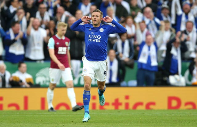 Jamie Vardy scored Leicester's equaliser