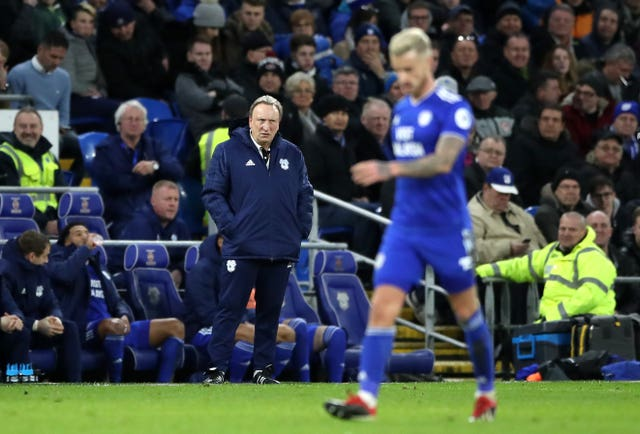 Cardiff manager Neil Warnock felt his side should have had a penalty of their own (Nick Potts/PA).