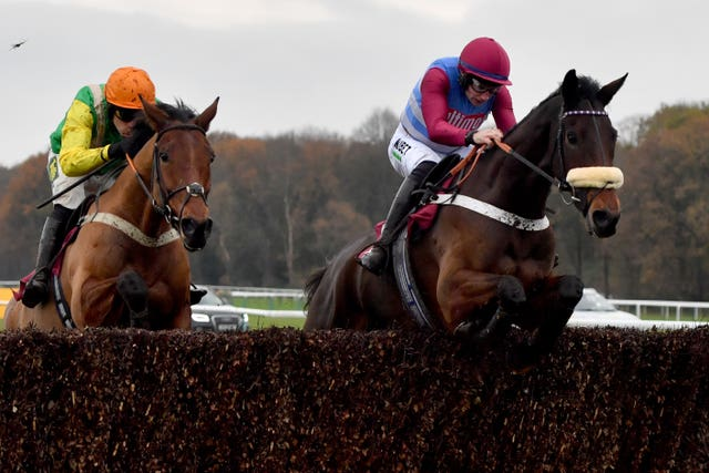 Keeper Hill, right, has the bet365 Charlie Hall Chase at Wetherby lined up as an early target (Anthony Devlin/PA Images)