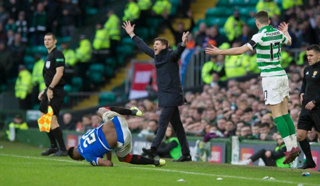 A foul was given against Christie for his challenge on Morelos