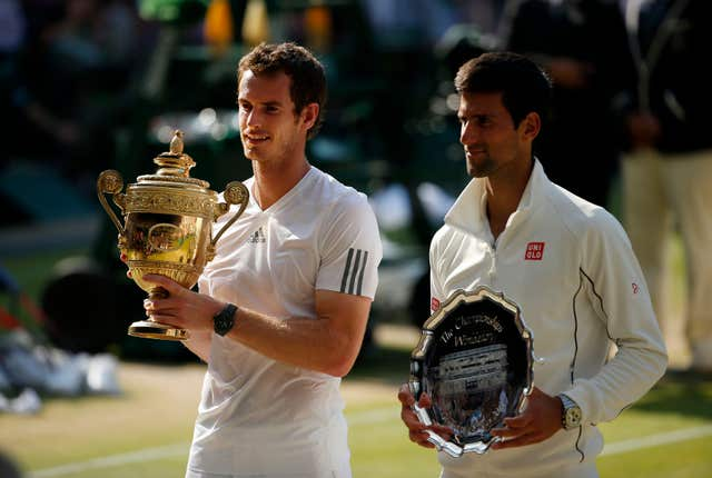 Murray (left) got the better of old foe Djokovic