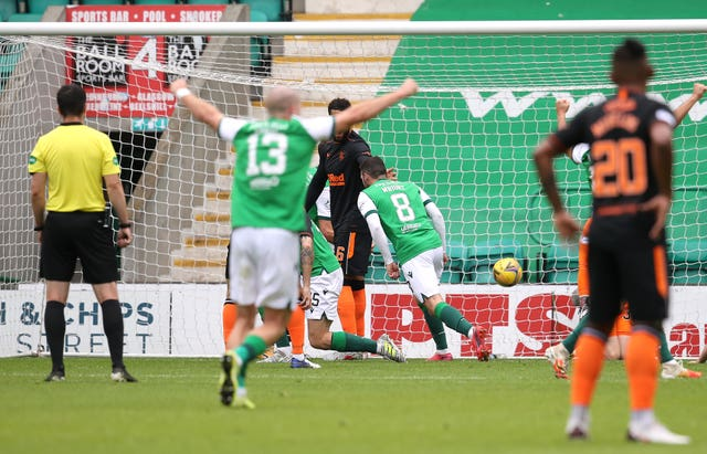 Drey Wright fired Hibernian in front