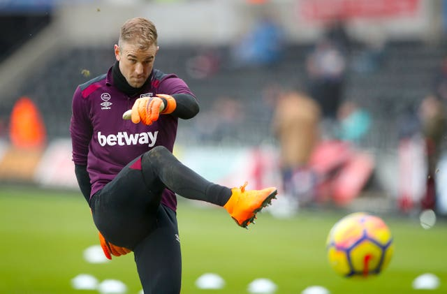 Joe Hart had endured a tough campaign on loan at West Ham