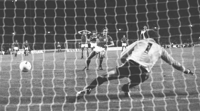 Allan Simonsen scored the winner from the penalty spot when Denmark beat England 1-0 at Wembley (PA).