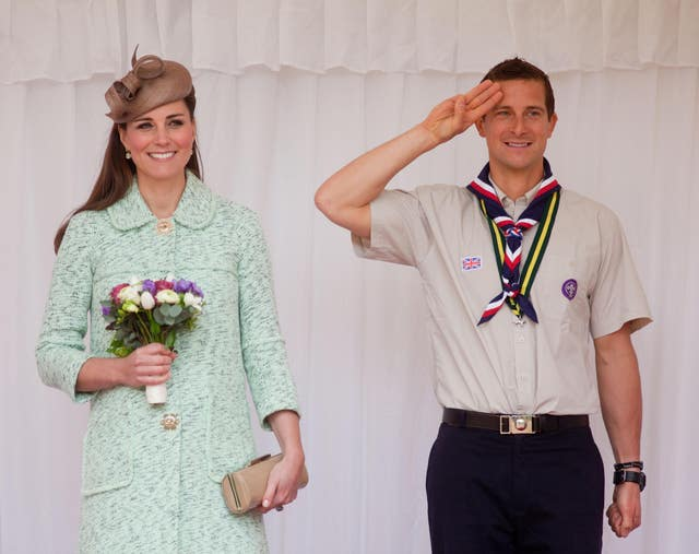 The Duchess of Cambridge with Bear Grylls