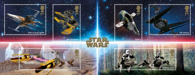 Royal Mail Star Wars themed stamps
