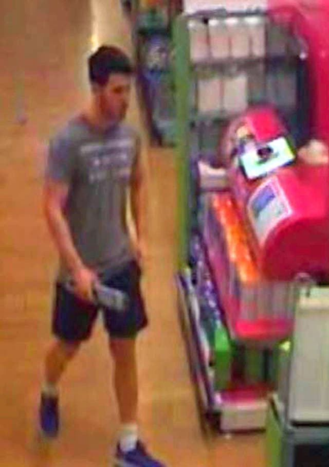 CCTV picture of Joshua Stimpson buying a knife (Kent Police/PA)