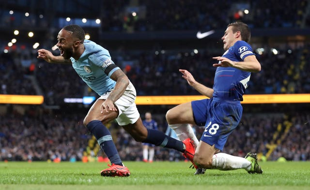 Azpilicueta (right) was tormented by Raheem Sterling
