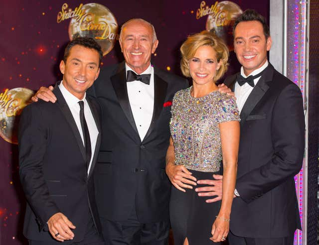 Dame Darcey Bussell joined Bruno Tonioli, Len Goodman and Craig Revel Horwood on Strictly in 2012 (Dominic Lipinski/PA).