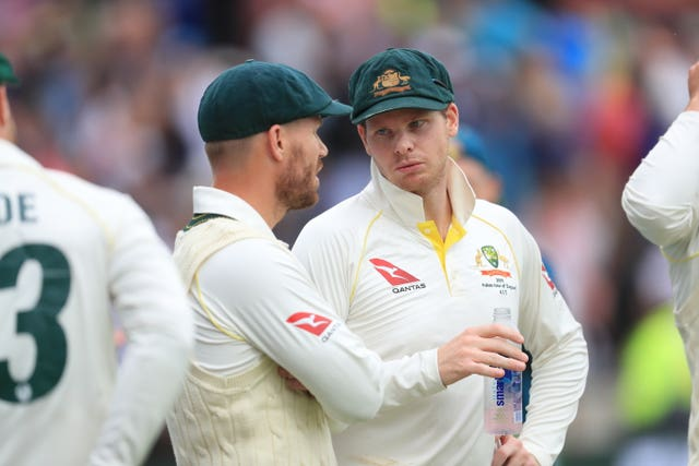 Australia's Steve Smith, right, and David Warner were both handed 12-month bans