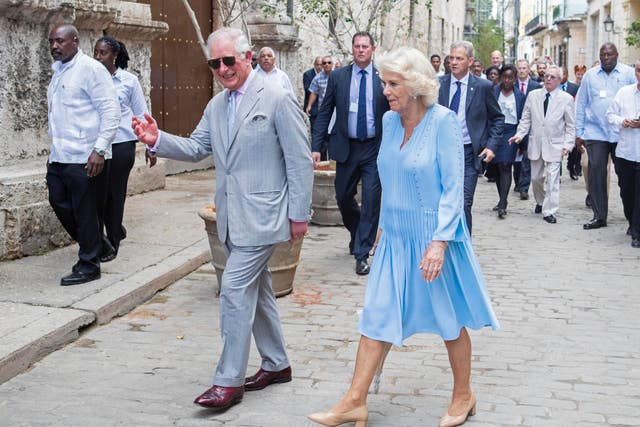 Charles and Camilla on tour