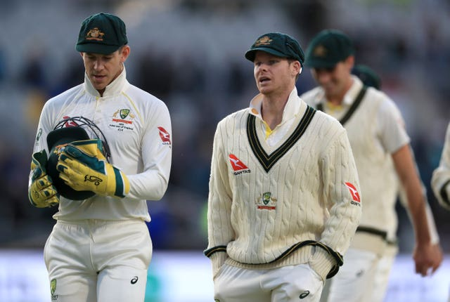 Tim Paine (left) has not used DRS well