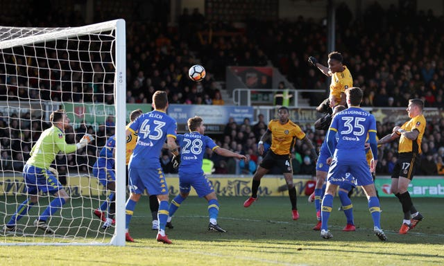 Shawn McCoulsky heads Newport's winner against Leeds