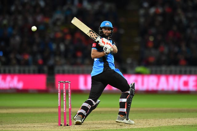 Worcestershire Rapids' Ross Whiteley batting in the T20 Blast