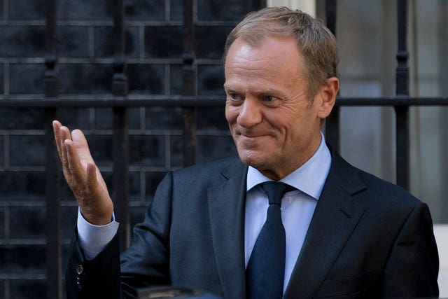 European Council President Donald Tusk, (Rick Findler/PA)
