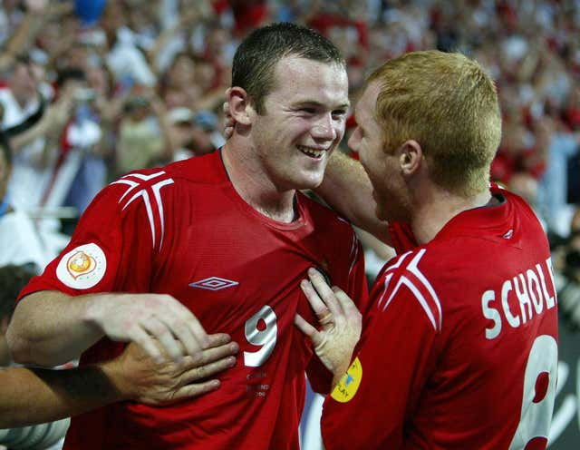 Wayne Rooney scored a brace in the first competitive meeting between the countries as England won 4-2 at Euro 2004.