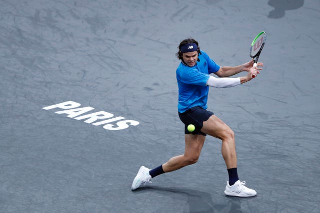 Canadian Milos Raonic was in good form at the Bercy Arena