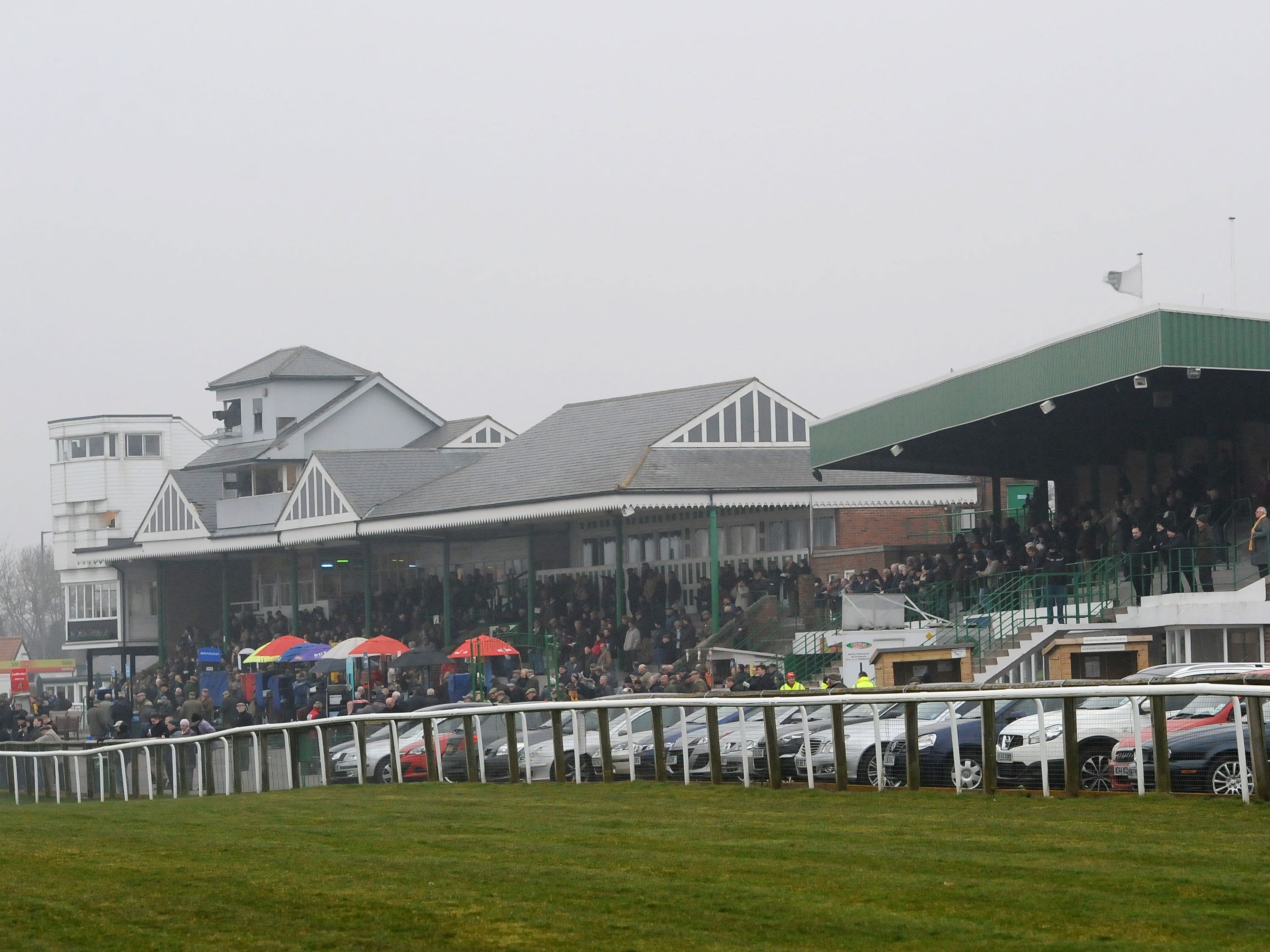 A general view of the grandstand at Catterick (Anna Gowthorpe/PA)