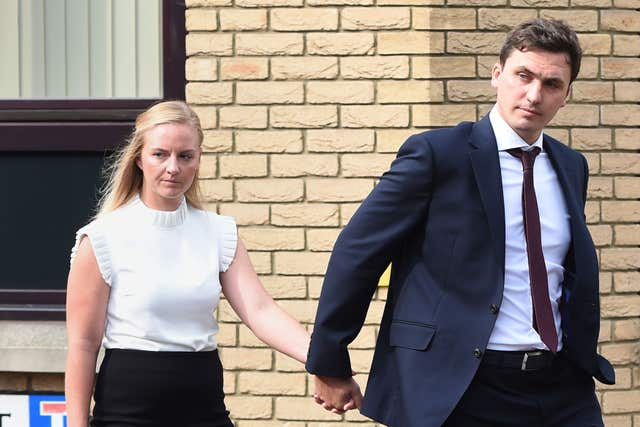 Shelby and William Thurston were convicted of gross negligence manslaughter (Joe Giddens/PA)