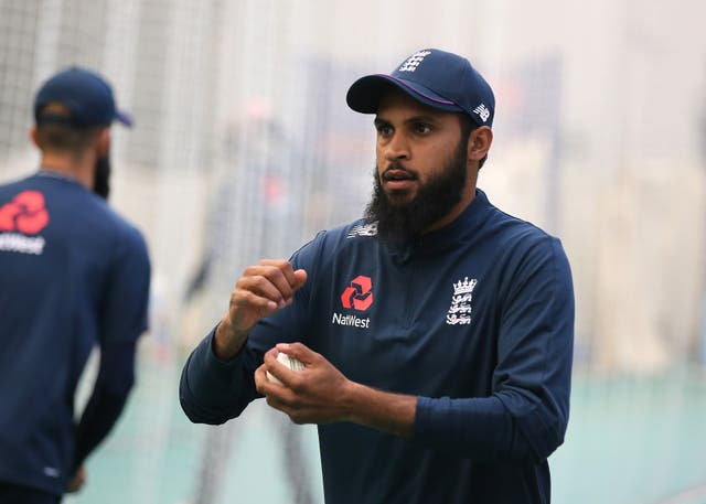 Adil Rashid is battling a shoulder injury
