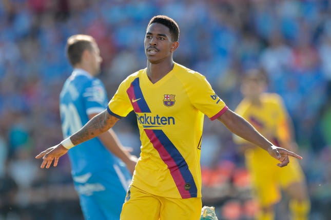 Junior Firpo netted Barca's second goal