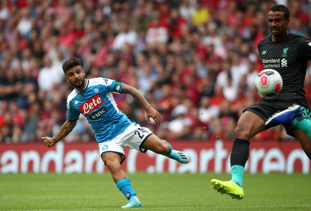 Liverpool will be familiar with Lorenzo Insigne's talents