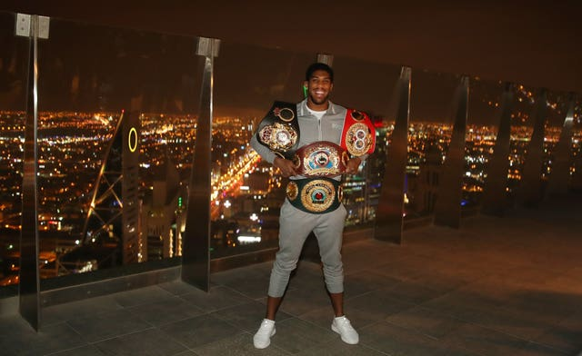 Anthony Joshua has fought in Saudi Arabia before