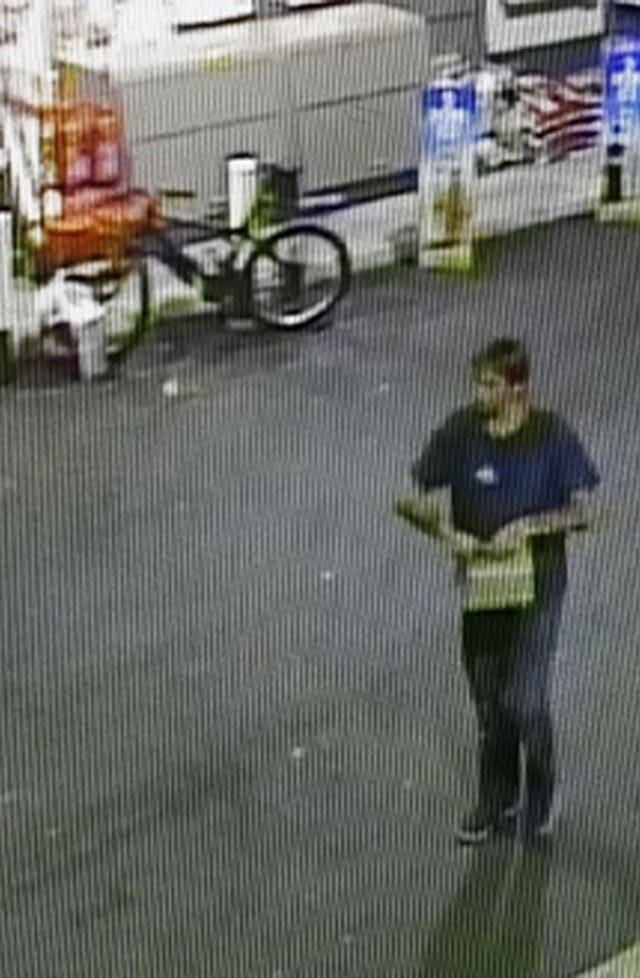 An image of a man wanted by police