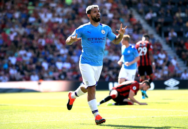 Sergio Aguero was on target as champions Manchester City saw off Bournemouth