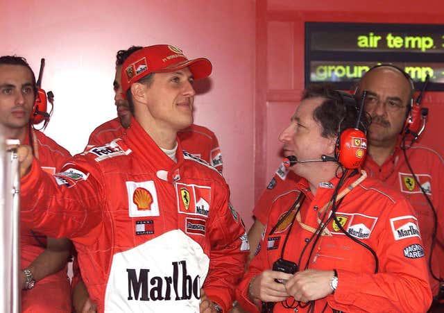Todt, right, enjoyed a fruitful partnership with Michael Schumacher at Ferrari